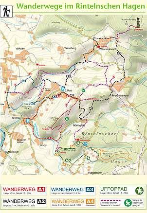 Wandergebiet Rintelnschen Hagen